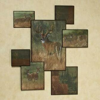 Home Natures Plan Deer Wall Art Collage Multi Warm