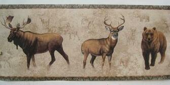 Moose Deer Bear Hunting Wallpaper Border 10 1 4 eBay