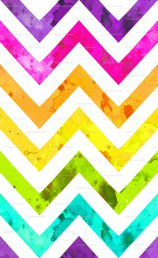 Colorful Chevron Pattern Wallpaper Watercolor chevron rainbow
