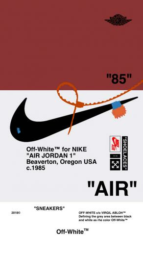 Off WhiteWALLPAPER IPHONE 1857 AIR JORDAN 1 OFFWHITE