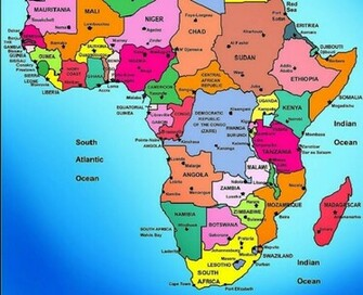 High resolution POLITICAL MAP   AFRICA desktoplaptop wallpaper