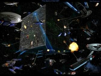 Download Deep Space Nine wallpaper Borg Wars Wallpaper