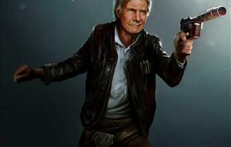 Wallpaper the old man star wars art Harrison Ford han solo