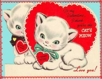 DiGiTaL STaMPS FREE Digital Stamp   Vintage Kittens Valentine