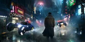 wallpaper Blade Runner Deckard street desktop wallpaper