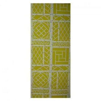 Yellow Chinese Lattice Wallpaper