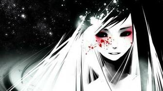 Download dark anime cartoon girl hd image HD wallpaper