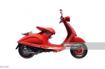 Italian Scooter On White Background Stock Photo   Getty Images
