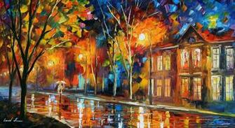 paintings landscapes cityscapes Leonid Afremov