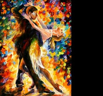 Leonid Afremov   Tango wallpaper   ForWallpapercom
