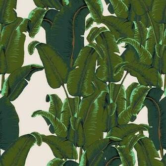 Banana Leaf Wallpaper Tiles   Tropical   Wallpaper   by Design Your