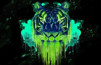 an awesome neon tiger by metalstormkid