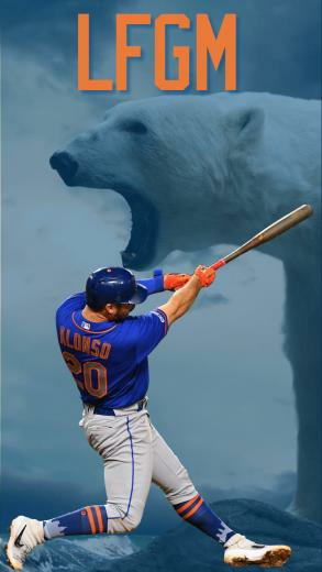 People were asking for some Mets themed wallpaper This is my
