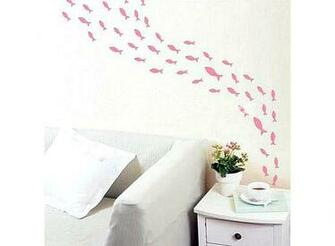 Small Fish Pattern Graffiti Removable Wallpaper JH098 Buy at lowest