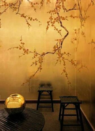 CHINESE NEW YEAR hand painted asian inspired designer wallpaper