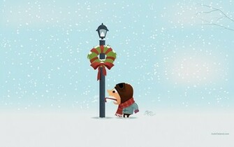 stuck on pole winter christmas wallpaper 12 Funny Winter Wallpapers