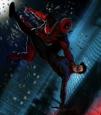 NightWing Vs DeadPool Flickr   Photo Sharing