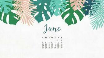 Floral June 2019 Wall Calendar