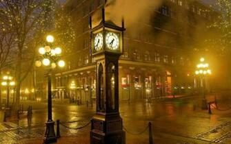 Vancouver Gastown Clock Wallpaper   HD Wallpapers Blog