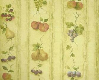 Details about KITCHEN FRUITSGRAPES PEARAPPLE Wallpaper KS24882