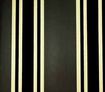 Flock Wallpaper Charcoal and gold stripe with flock stripe in black