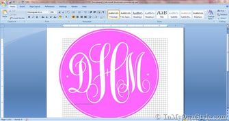How To Create a Monogram Using Microsoft Word   In My Own Style
