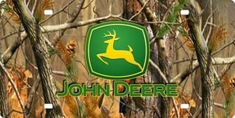 Camo John Deere Logo Background John deere logo on camo plate