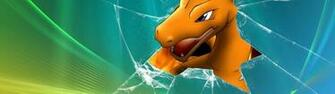pokemon vista broken screen charizard desktop 1920x1080 wallpaper