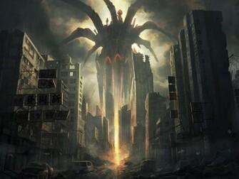 Anime Destroyed City for Pinterest