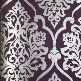 silver cm41609 scroll work wallpaper contemporary modern wallpaperhtm