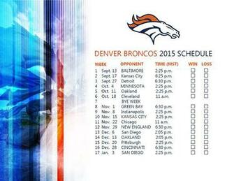 photo relating to Denver Broncos Schedule Printable named No cost down load Broncos 2015 printable routine Denver Broncos