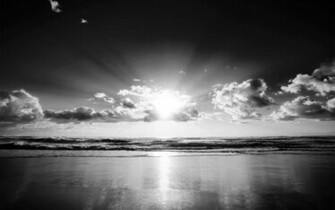 Black and White Wallpapers Black and White Beach Landscape HD