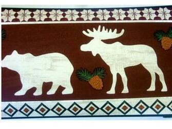 Bears Moose Lodge Wallpaper Border