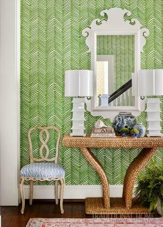 Alan Campbell Zig Zag wallpaper by Sarah Bartholomew