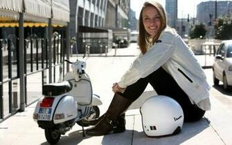 Vespa PX 125 and girl wallpapers and images   wallpapers pictures