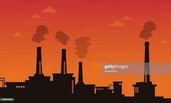 Pollution Industry Bad Environment Background High Res Vector
