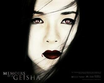 The Memoirs Of A Geisha poster has been tweeked slightly as to apeal