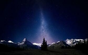 Swiss Alps Night Sky Wallpapers HD Wallpapers