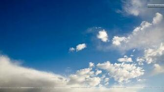 Sky Scene And White Cloud Wallpaper