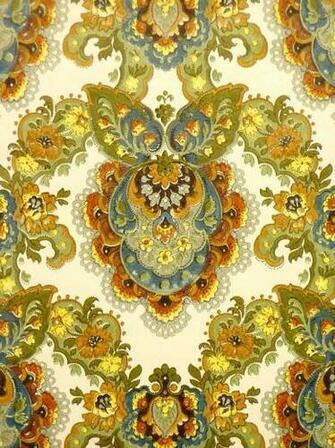 Vintage retro baroque wallpaper from the 60s   Vintage Wallpapers