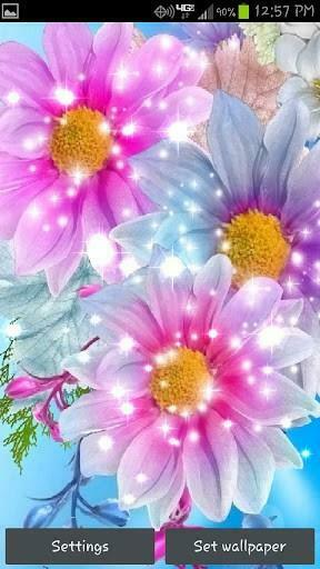 Download Glitter Flowers Live Wallpaper for Android by fulbourn apps