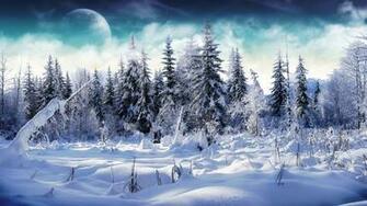 1366x768 Winter wonderland 2 desktop PC and Mac wallpaper