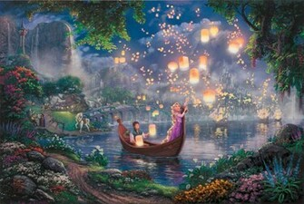Tangled Wallpaper Thomas Kinkade painting Kinkade Walt Disney 50