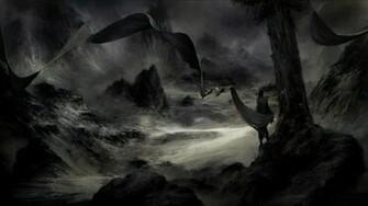 Black dark fantasy art wallpaper 33541