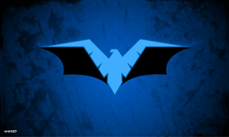 Nightwing   Batman Logo Wallpaper by elclon