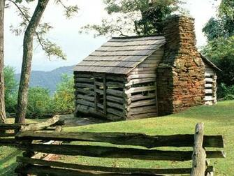 Log Cabin Blue Ridge Parkway Virginia Related river 4 Moat Wallpapers