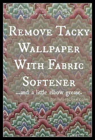 DIY Wallpaper Removal with Fabric Softener