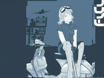 Tapety FLCL Vespa Girl Wallpaperjpg 1024x768