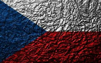 Download wallpapers Flag of Czech Republic 4k stone texture