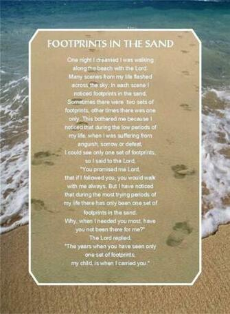 Footsteps Poem Wallpaper Footsteps poem   viewing
